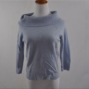 Lord & Taylor Light Blue Cashmere Sweater